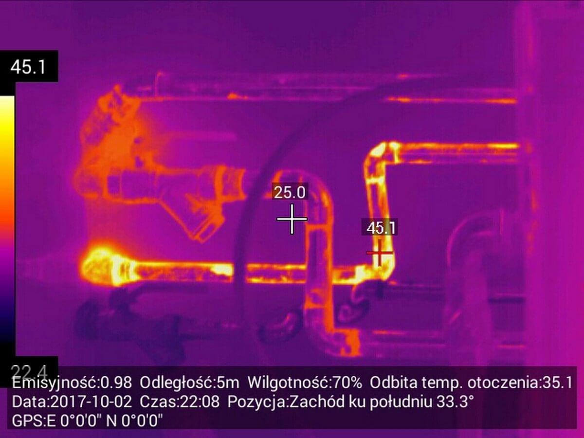 Usługi inspekcji kamerą termowizyjną