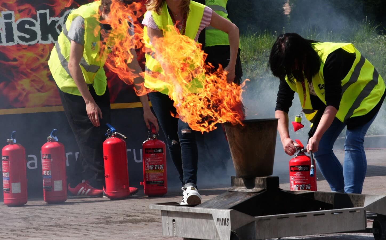 Praktyczne szkolenie przeciwpożarowe
